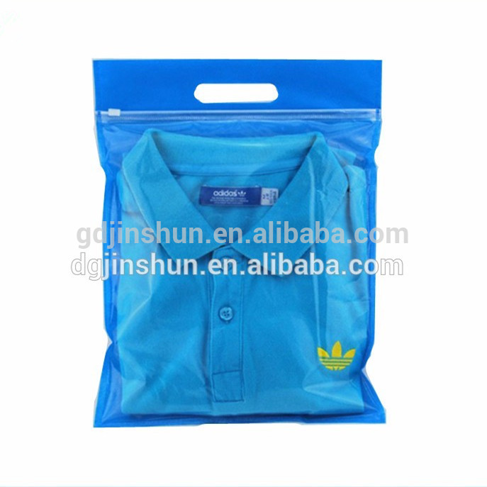 Quality products pe clear zip lock bag with zipper for clothes