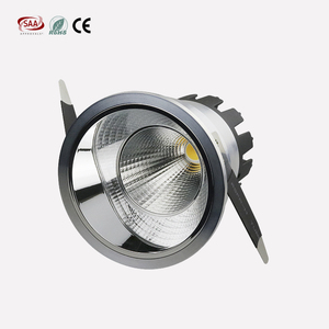 CE SAA standard anti glare stainless steel 70mm cut hole 5w 7w flicker free cob downlights for hotel lighting