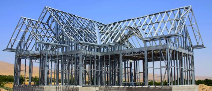decorative metal stud/fabricated steel frame system