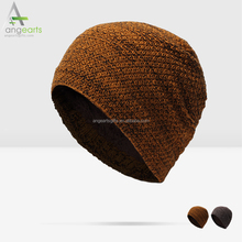 Custom fashion add wool beanie hat thermal knitted cap winter hat wholesale