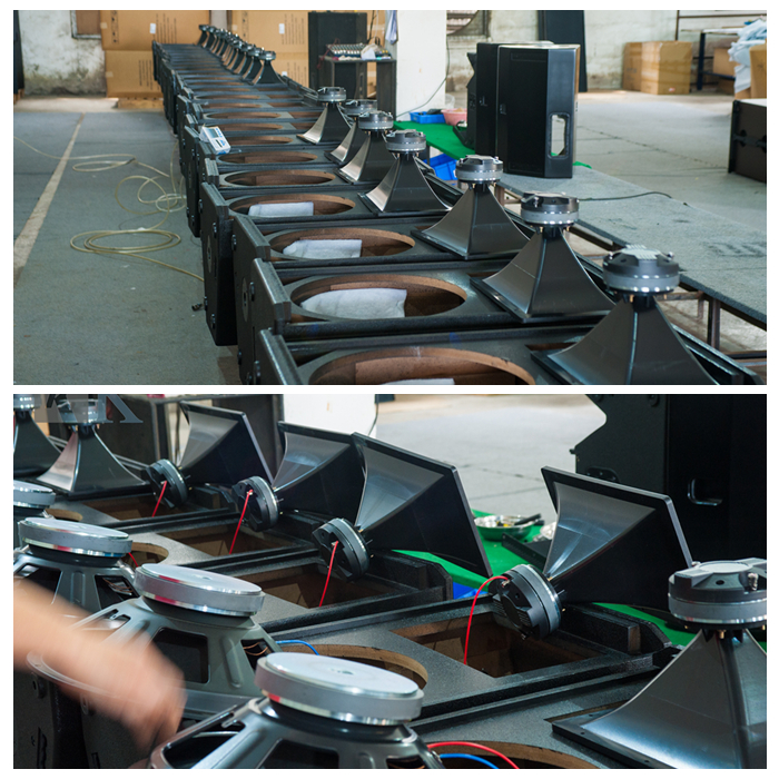 Tasarım kutusu hoparlör ses sistemi stüdyo ile monitör hoparlör konser sahnesi