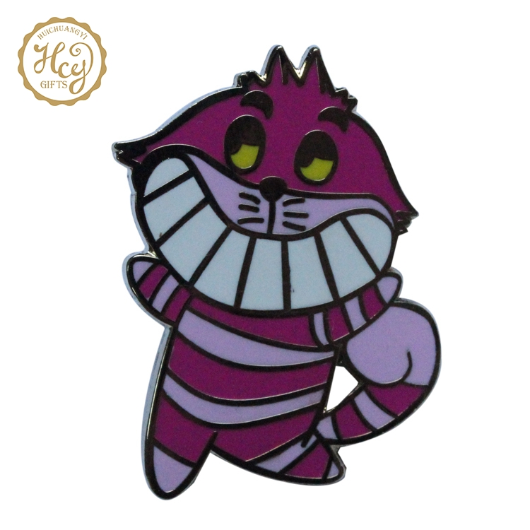 High Quality Cartoon Custom Lapel Hard Enamel Pins, Metal Badge