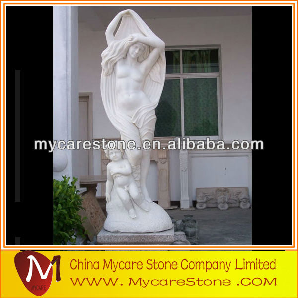 Natural white marble sculptures Carvings statues