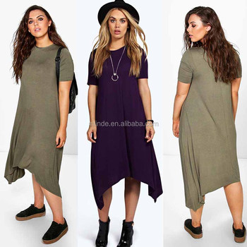 e4143066df Plus Size xxxl Women Clothing Online Shopping Sites China Clothes Plus  Hanky Hem Swing Dress Custom