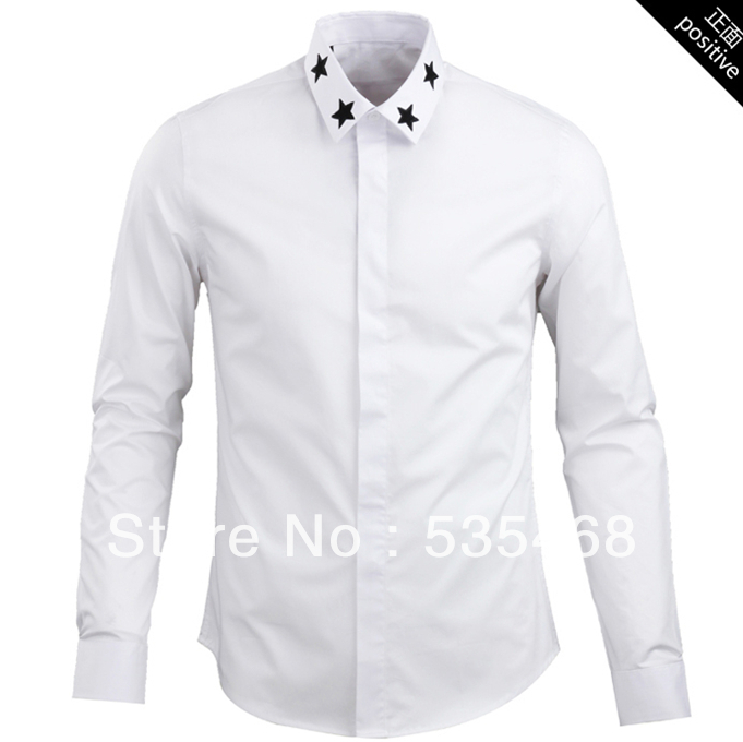 a6a60aee Get Quotations · Hot arrival Free shipping new design selling collar  embroided with star long sleeve men shirt 2014