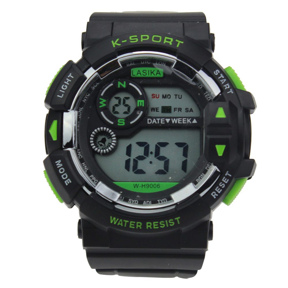 K SPORT Digital Watch Men Military Army Watch Water Resistant Calendar LED Sports Shock Watches relogio masculino With Box