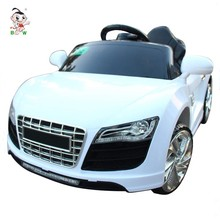 Kids plastic outdoor car two motor electric children car kids ride on remote control power car