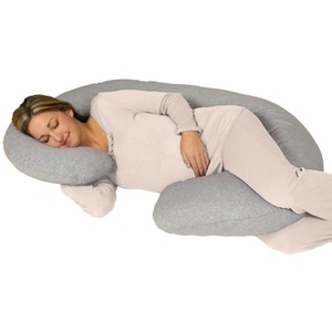Most Comfortable C Shaped Body Support Pillow For Pregnant Women, Big Maternity Pillow Made Of Soft Washable Cotton Cover