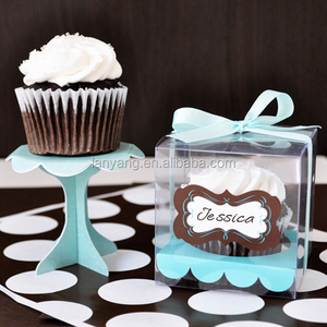 Clear Acetate Cube Gift Boxes PVC - Sweets Chocolate Cake Wedding Favour boxes with insert