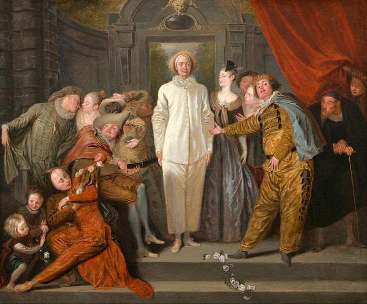 Canvas Art Prints Stretched Framed Giclee World Famous Artist Oil Painting Antoine Watteau <font><b>Italian</b></font> Comedians