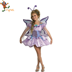High Quality Girls Fancy Dress Costumes Carnival Cosplay Party Funny Kids Fairy Costumes With Butterfly Wing