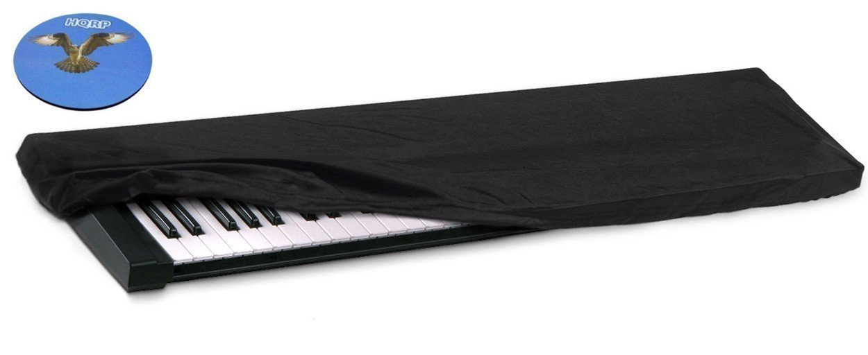 HQRP Keyboard Dust Cover for Roland BK-9 FP-50 FP-80 Jupiter-50 Jupiter-80 RD-800 RD-300NX Digital Piano Synthesizer + HQRP Coaster