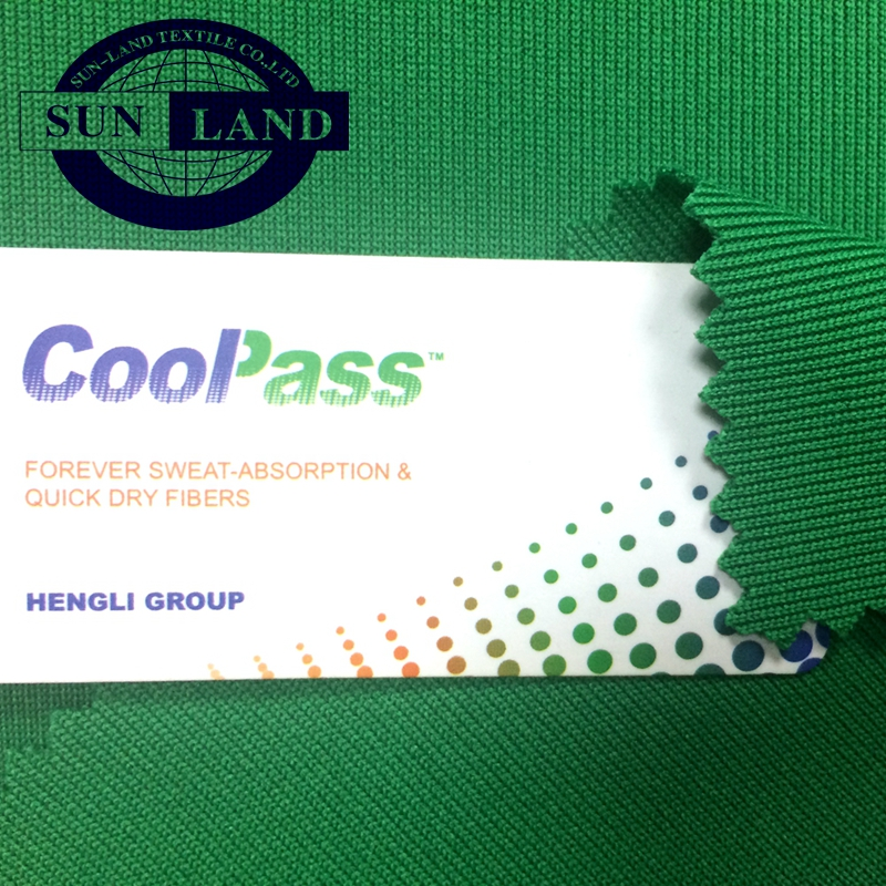 100 polyester coolpass brand knitted mesh fabric for sports wear