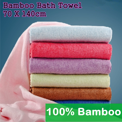 Bamboo Sauna Towels: Bamboo-Fiber-Bath-Towel-set-Beautician-Toalha-Beach-Salon