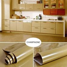 Водонепроницаемые наклейки для кухонного шкафа 0,4x5 м, самоклеящиеся обои для мебели, гардероба, столов, дверей, однотонные наклейки на стену(Китай)