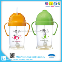 BPA free spill proof baby plastic drinking sippy training cup with straw