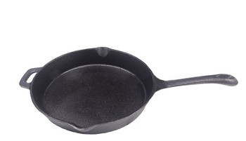 Trionfo Pre-seasoned cast iron frying pan with CTN