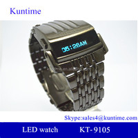 Special men's creative iron man style robot electronic digital LED wrist watch steel wristwatch