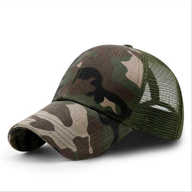 NEW Camouflage Color Canvas Topi Sun Protection Camping Cap Fishing Beach Hat