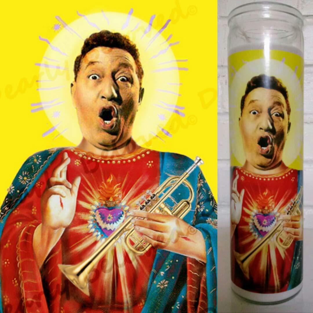 "Saint Louis Prima, 8"" Votive Glass Jar Prayer Candle, Saint of the Gigolos"