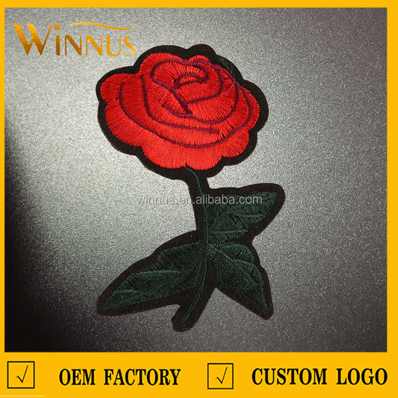 wholesale custom design applique embroidery flower patches for clothes