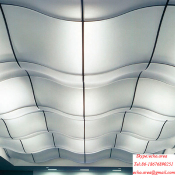 Decorative Curved Suspended Ceiling Tiles For Bars Kitchen Resturant Gym Commercial