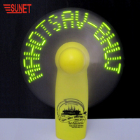 2020 Idea Product Led Flashing Mini Message Fan Girl's Gift Cool Air Fan Customized Case Color Different Led Colors Cute Fan