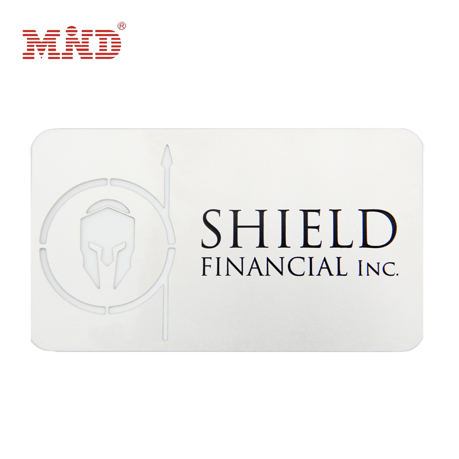 CR80 Standard Size Printed  Business Metal Card