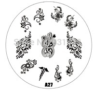 2015 new A Series A27 Nail Art Polish DIY Stamping Plates Image Templates Nail Stamp Stencil
