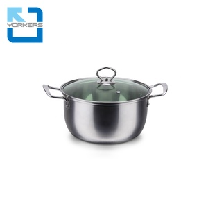 hot selling cheap double handle stainless steel biryani cooking pot health pot