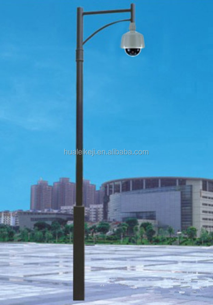 Traffic and Telescopic cctv Camera Monitor Mast Steel Pole cctv pole mount