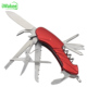Outdoor Camping Stainless Steel Pocket Knife Survival Folding 11 in 1 Army Swiss Multi Function Knife