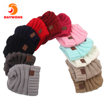 Daywons Kids Baby Toddler Cable Knit Children's Winter Beanie Hat Crochet Ski Cap Pullover Outdoor Keeping Warm Headwear