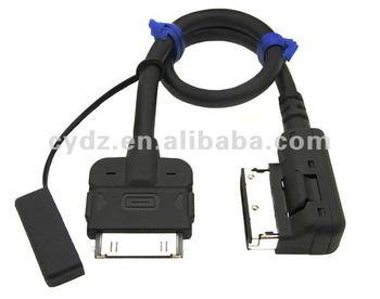 audi music interface ami mi aux cable adapter for ipod. Black Bedroom Furniture Sets. Home Design Ideas