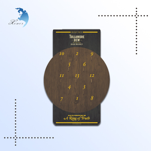 Customized design logo printing wall hanging wooden dart board