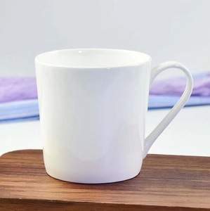 Wholesales 16 oz fine bone china white body custom porcelain tea mug