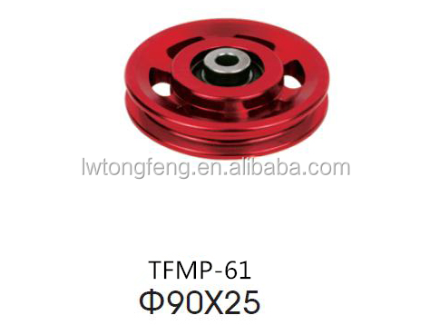 Red color metal pulleys /fitness equipment use /Exquisite in design/top quality