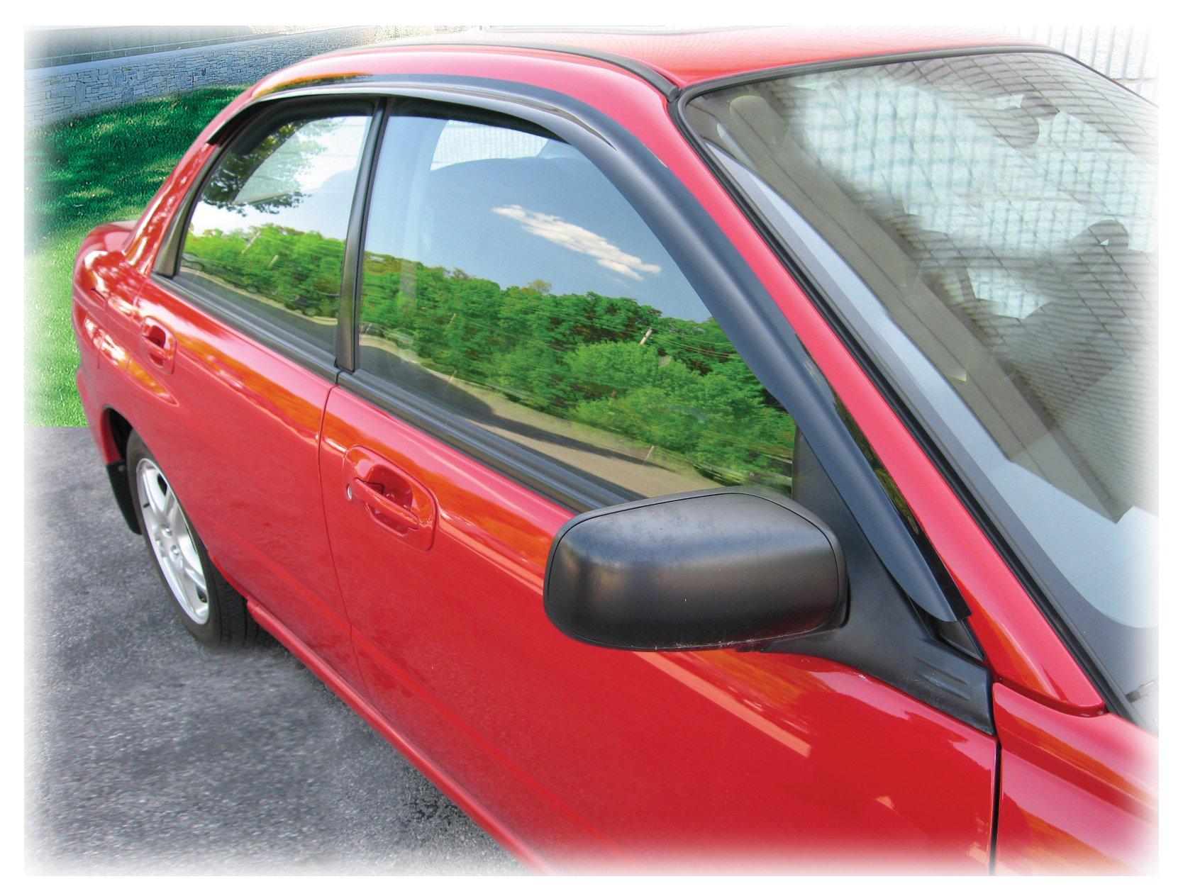 C&C Car Worx WV-02I-T Set of 2 Tape-On Window Visor Rain Guard Deflectors fit 2002-2007 Subaru Impreza Sedan & Hatchback, Impreza WRX and STI