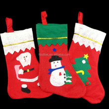Christmas decorations nonwoven fabric wholesale christmas socks
