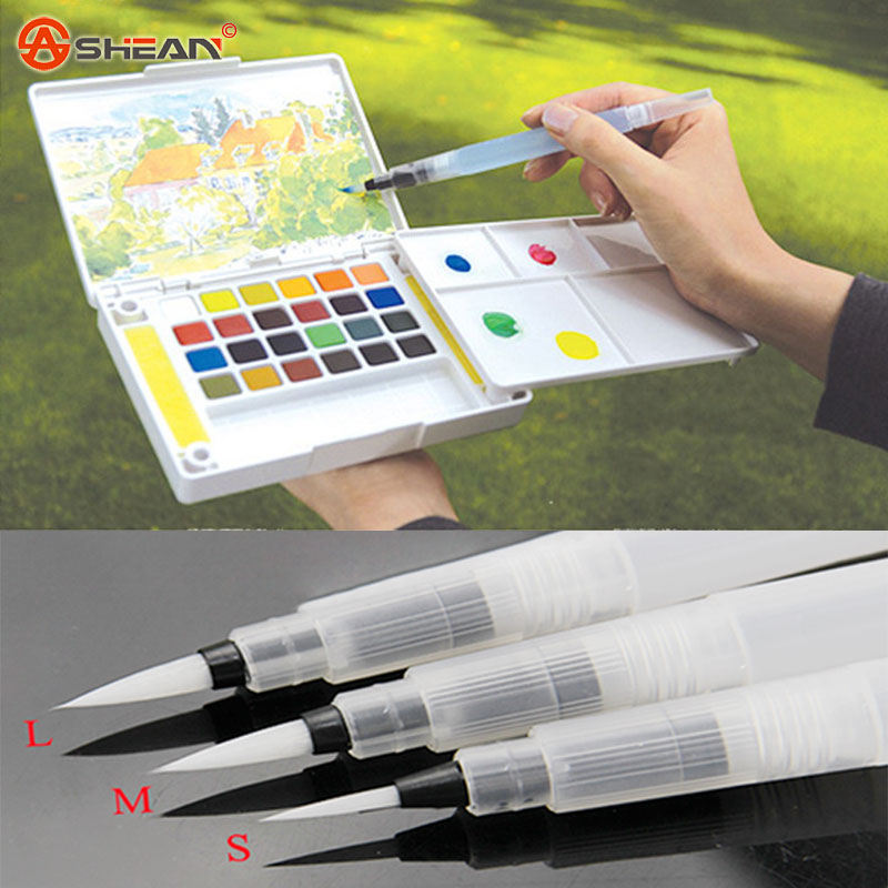 Refillable 1 Pc Water Brush Ink Pen for Water Color Calligraphy Drawing Painting Illustration Pen Office