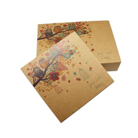 Recyclable Kraft Paper Drawer Box with Own Printed for Gift Wedding Packing Boxes