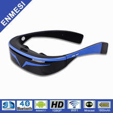 "Factory OEM 98"" Smart Wifi Video Glasses 3D Head Mounted Display (HMD) HD 1080P"