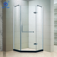 Economic Diamond-shape Integral Hinged Shower Cubicle Rooms(KK3001)