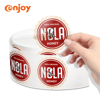 Waterproof round label tearproof heat resistance removable transparent adhesive custom LOGO sticker
