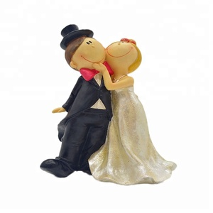 f7e4224c682b Romantic bride and groom figurines couple figurines cake decorations topper  DIY decor for weddings decoration resin