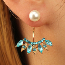 2018 new Multicolor diamond pearl earrings flowers gold earring jewelry sets gife earring wholesale SWTW305