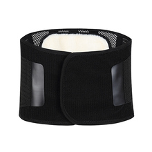 orthopedic lumbar back support brace belt with removeable pads