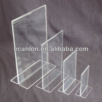 Standing Acrylic Table Menu Holder For Restaurant Hotel Buy - Standing table for restaurant