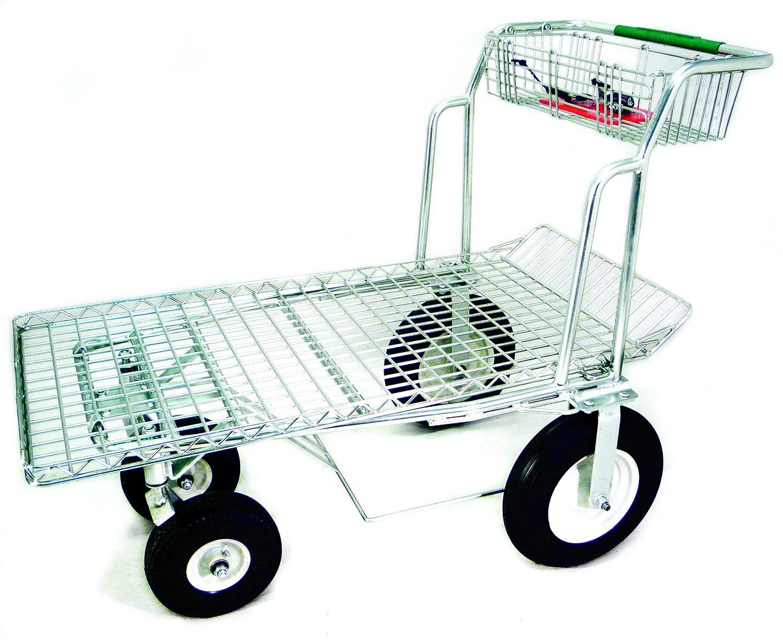 Get Quotations · Tierra Garden 35282 Heavy Duty Zinc Plated All Terrain Utility  Cart With Foam Wheels