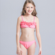 KS30361c 2017 teen girls bikini set kids brazilian swimwear wholesale